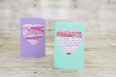 Scrapbook Paper Valentine Heart Card