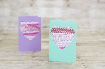 Scrapbook Paper Valentine Heart Card