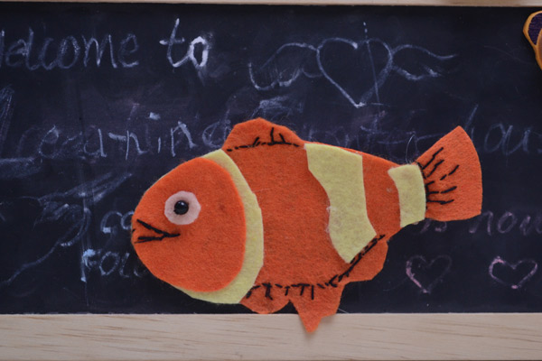 Felt Nemo Brooch