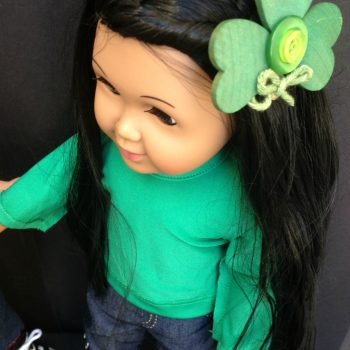 Doll Sized DIY Shamrock Fashion