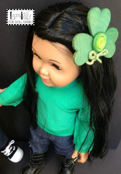 Doll Sized DIY Shamrock Fashion