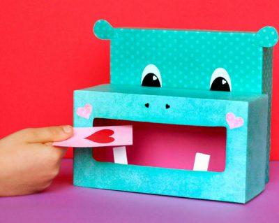 Hippo Valentine Box