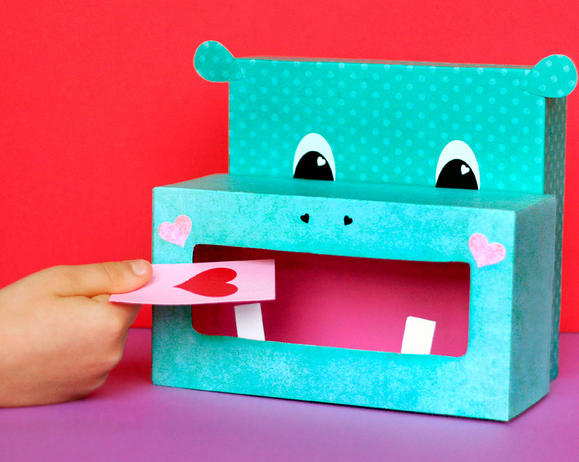 Hippo Valentine Box Fun Family Crafts