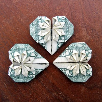 Faceted Dollar Hearts