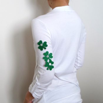 Buttons and Felt Shamrocks