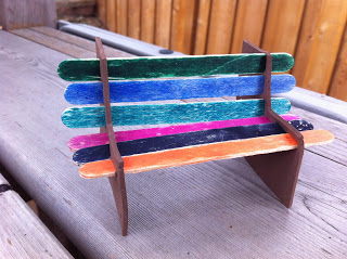 Popsicle Park Bench