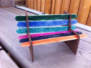 Popsicle Park Bench