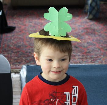 Four Leaf Clover Paper Plate Crown