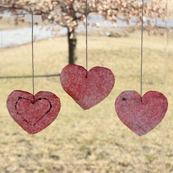 Valentine Coffee Filter Hearts