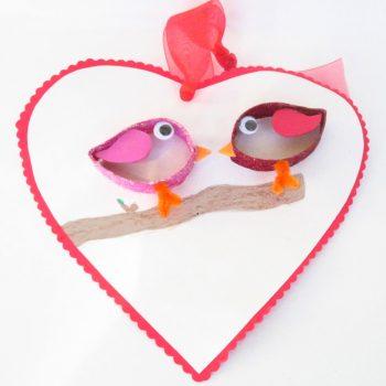 Paper Roll Love Birds