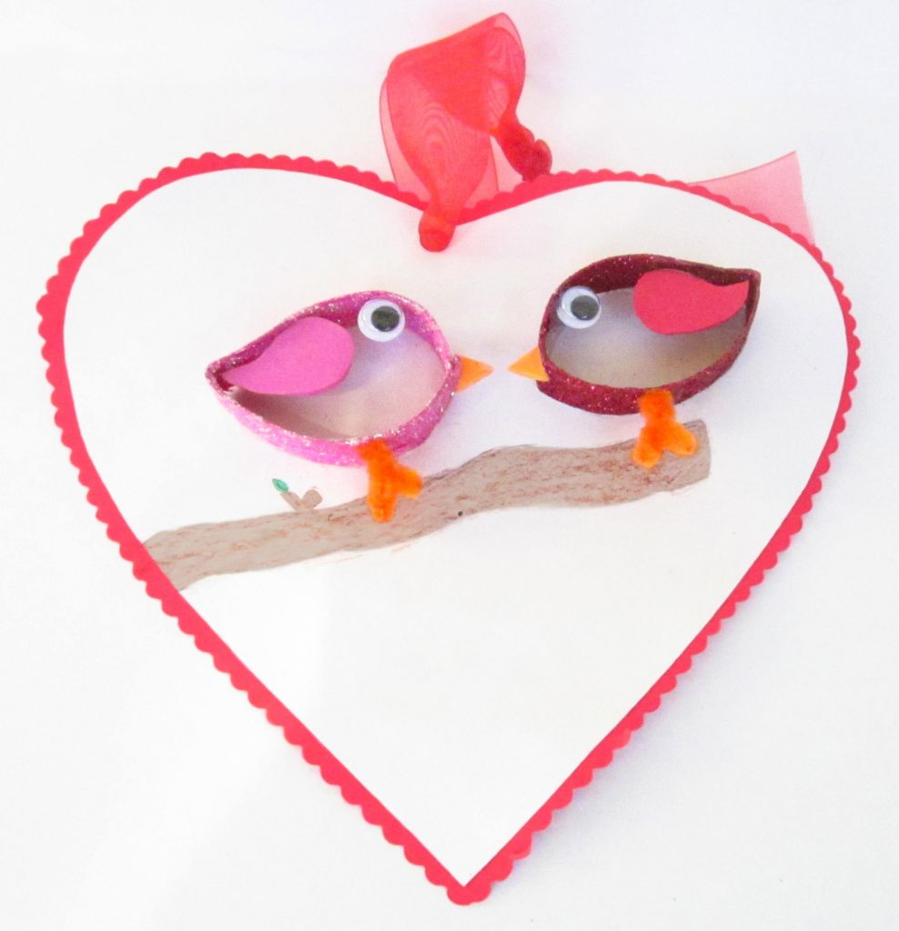 Paper Roll Love Birds