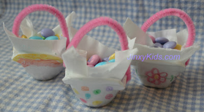Mini Egg Cup Easter Baskets