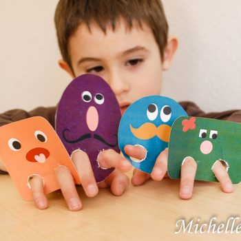Silly Shapes Finger Puppets
