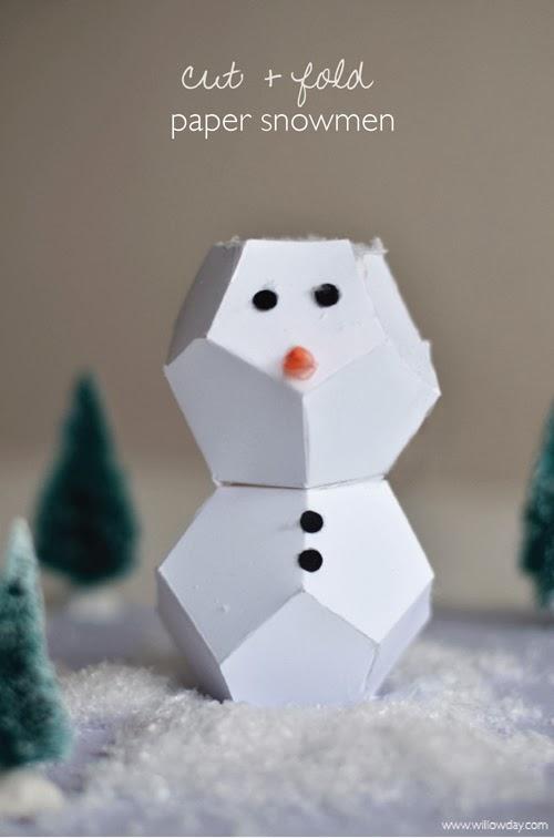 Cut + Fold Snowman