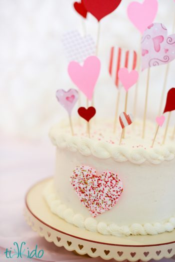 Sprinkle Heart Cake Decoration