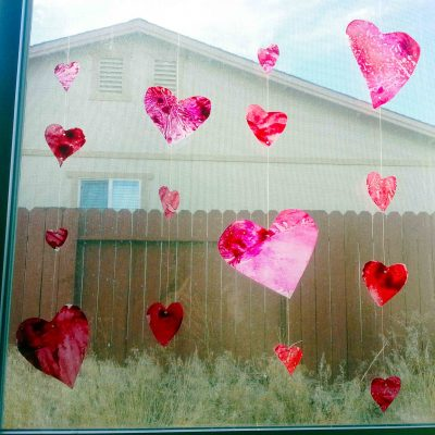 Faux Stained Glass Heart Garlands