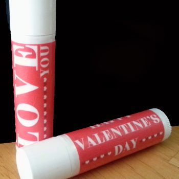 Printable Valentine Lip Balm Wrapper