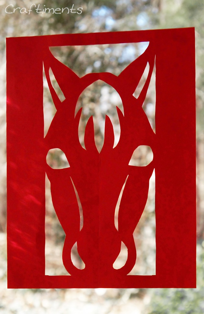 Year of the Horse Paper Cutting