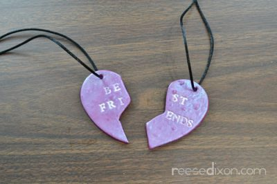 Clay Best Friend Necklace Fun Family Crafts