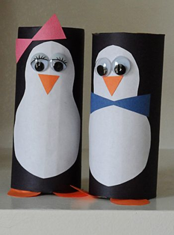 Cardboard Tube Penguins