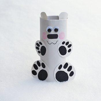 Cardboard Tube Polar Bear
