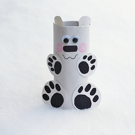Cardboard Tube Polar Bear Fun Family Crafts