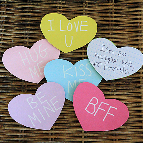 Cereal Box Conversation Hearts
