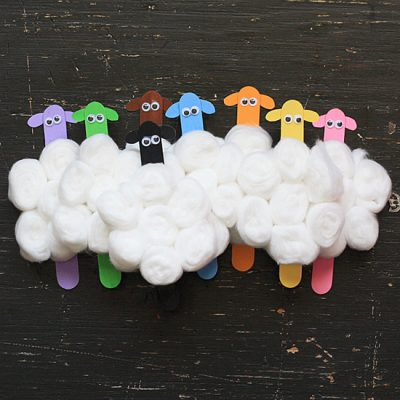 Craft Stick Flock of Sheep