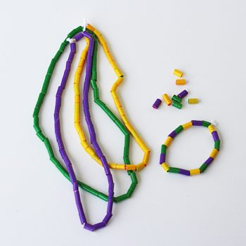 Duct Tape Mardi Gras Beads