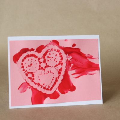 Finger Paint Valentines