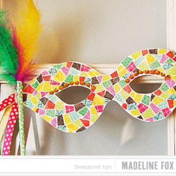 Glittery Mardi Gras Mask