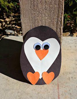 Paper Heart Penguin