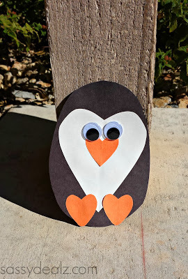 Paper Heart Penguin