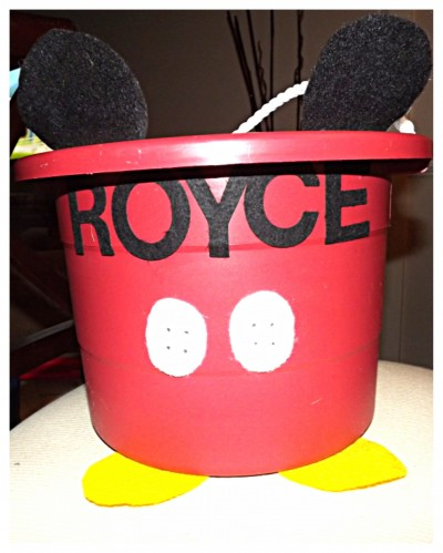 Personalized Mickey Mouse Bucket