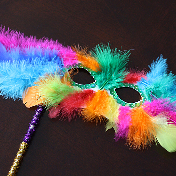 mardi gras feather mask fun family crafts