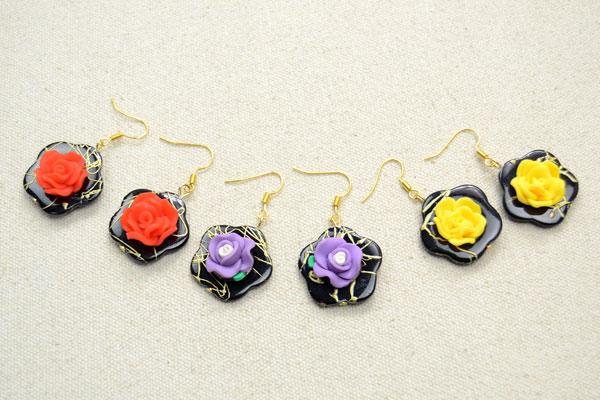 Polymer Clay Flower Earrings