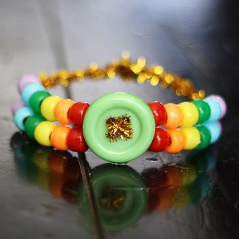 5-Minute Rainbow Pony Bead Bracelet