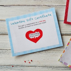 Scratch Off Valentine Gift Certificates