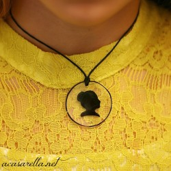 Shrinky Dink Silhouette Necklace