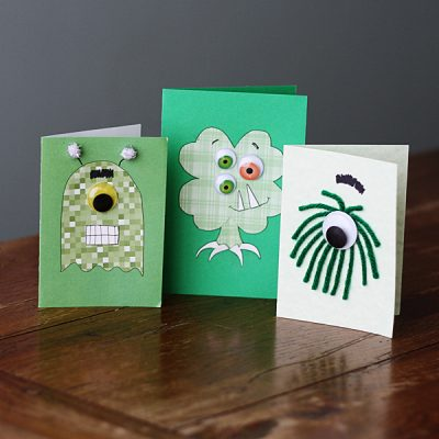 St. Patrick's Day Monster Cards
