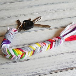 Braided T-shirt Keychain