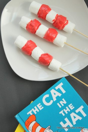 Cat in the Hat Marshmallow Treats