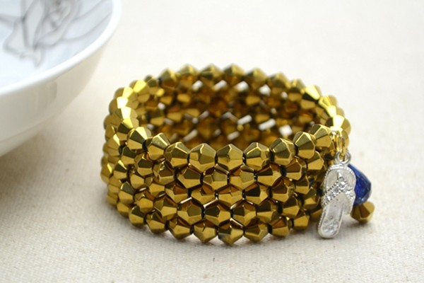 Chic Beaded Wrap Bangle