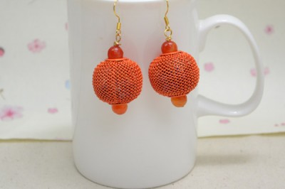 Lantern-Like Ball Earrings