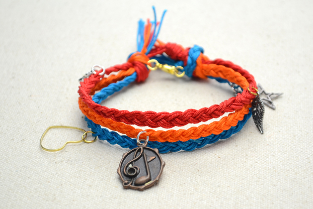 Multi Strand Charm Friendship Bracelet