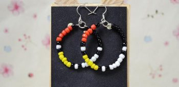 Native American Beaded Hoop Earrings