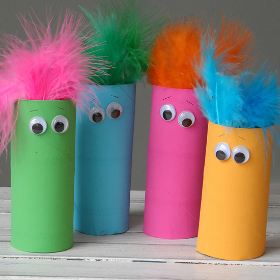 Cardboard Tube Featherheads