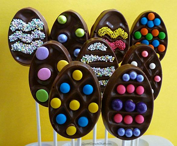 Krispie Chocolate Egg Pops