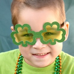 Glittery Shamrock Glasses