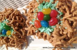 Bird Nest Jellybean Cookies